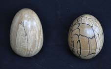 Hollow wooden eggs