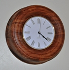 Wall clock in olive ash