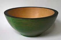Coloured wooden bowl