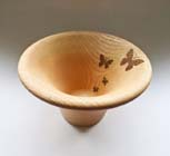 Pyrographed bowl