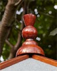 Thistle finial for summerhouse